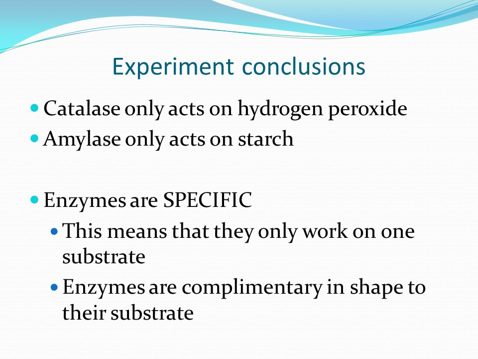 experimental errors in catalase lab In a chemistry lab, sources of error can include human error, observation error and problems with equipment uncertainty is always a component of chemistry.