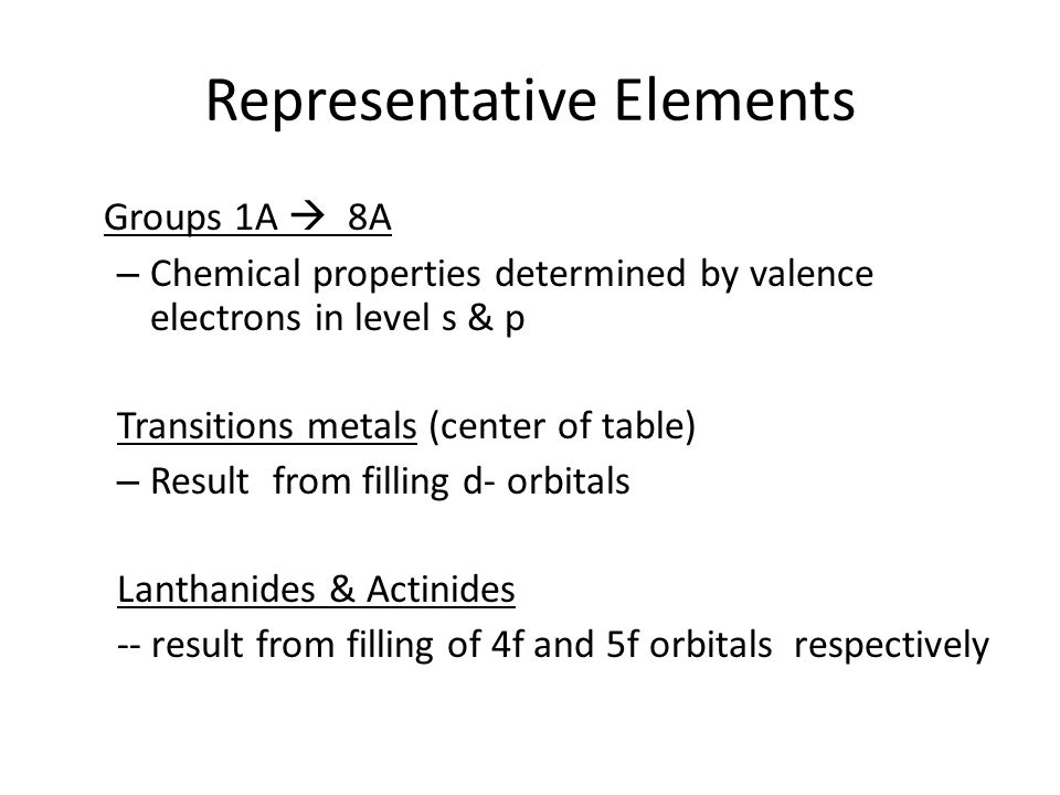 representative elements - Periodic Table Of Elements Group 1a