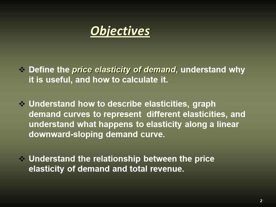 describe the relationship between demand and price
