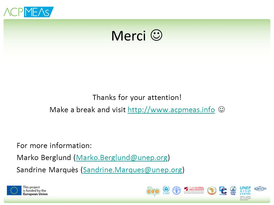 Merci  Thanks for your attention!