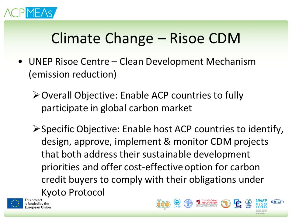 Climate Change – Risoe CDM