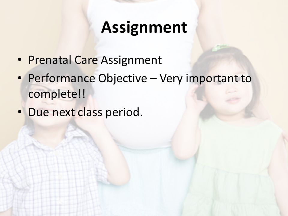 Assignment Prenatal Care Assignment