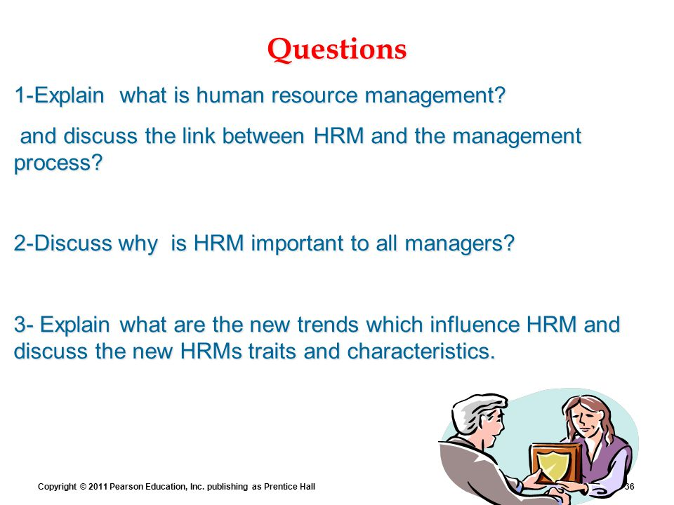 hrm important question The role of human resource management.