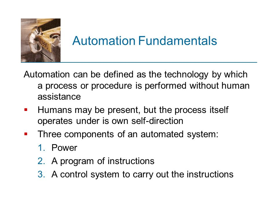 Automation Fundamentals