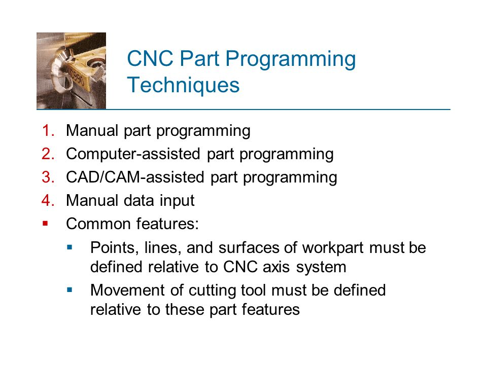CNC Part Programming Techniques