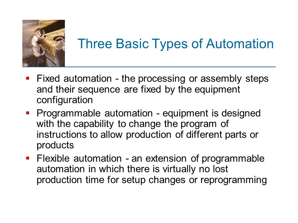 Three Basic Types of Automation