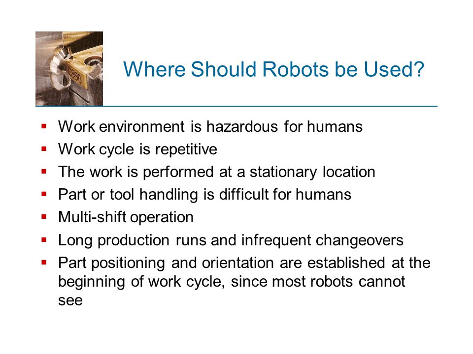 Where Should Robots be Used