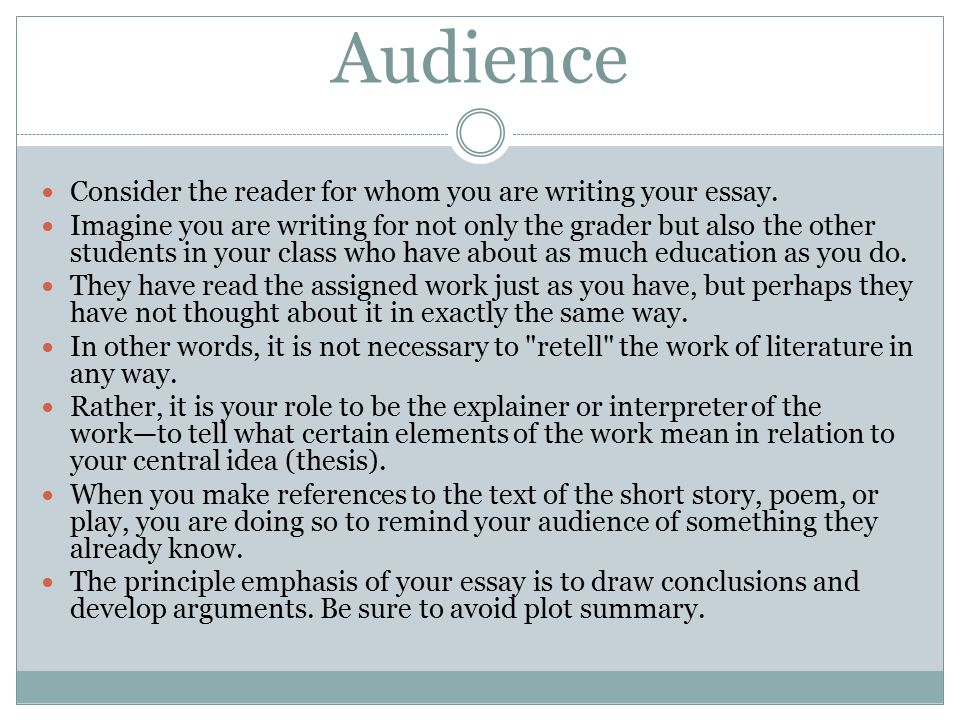 audiences are not only entertained essay Test and improve your knowledge of addressing an essay's audience with fun multiple choice that they are entertained by your conclusion paragraph only.