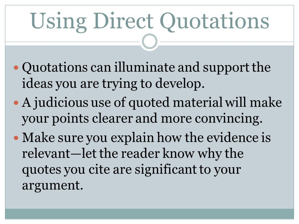 using direct quotes in essays