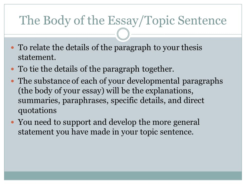 an analysis of the topic of the statement Choice of a topic for analysis essay is the first but yet the most important point on how to write an analysis essay indeed, it is very important to choose interesting topics for analysis essay here you might have two options.