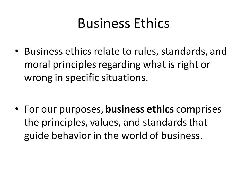 business ethics comprises The compliance and ethics programs of most companies today fall short of  a  typical compliance program comprises best-practice elements—from a defined.