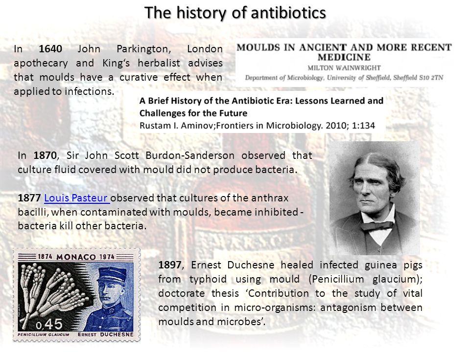 the history of penicillin Treatments~american academy of pediatrics (aap) recounts the history of antibiotics.