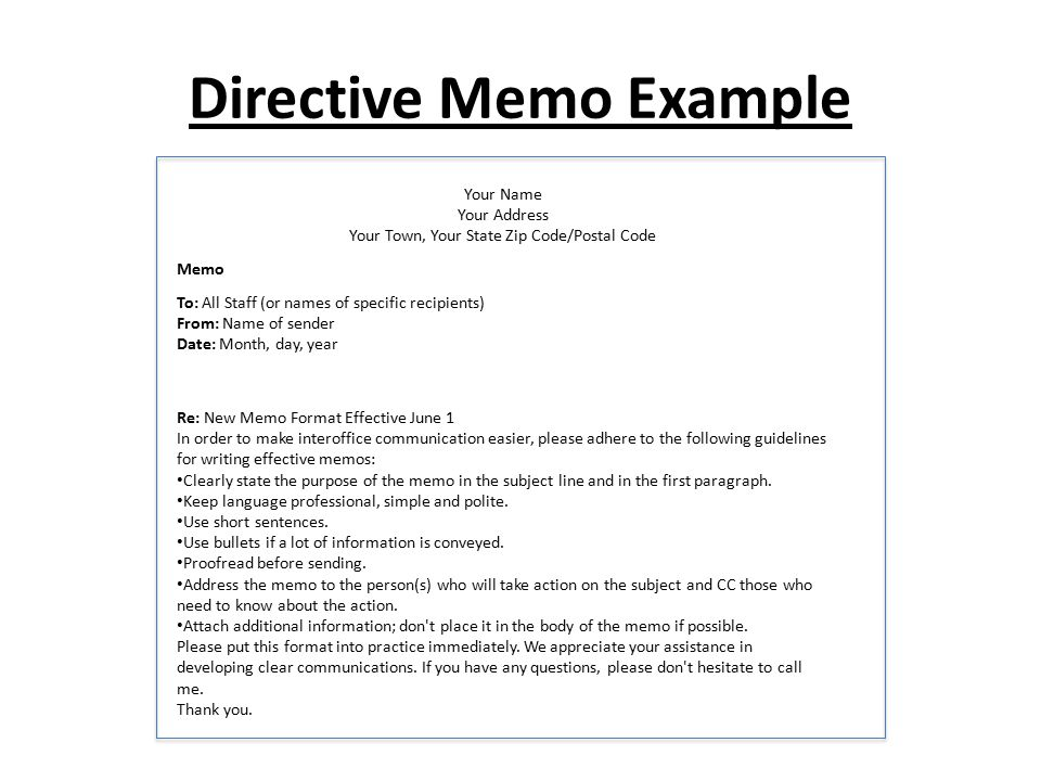 Memo writing ppt video online download for Memo to staff template