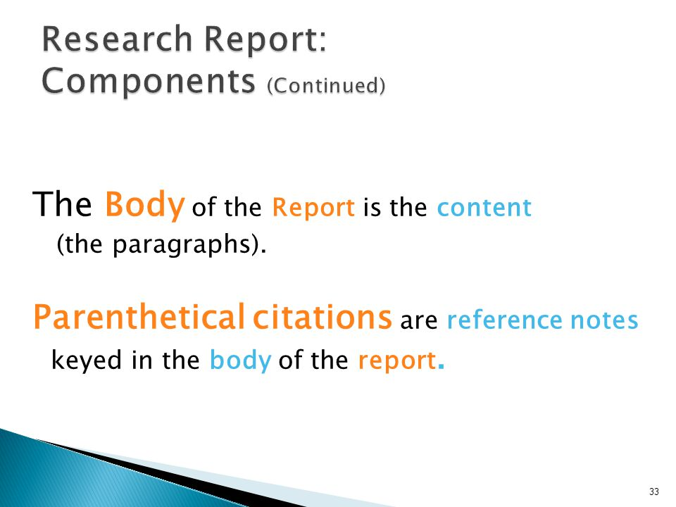 components of research report pdf
