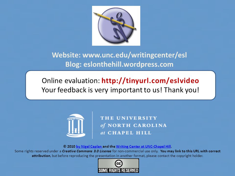 2010nigel caplan and the writing center at unc-chapel hill, Presentation templates