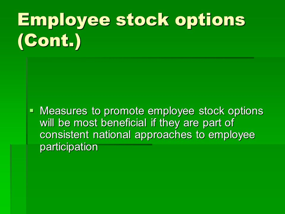Employee stock options usa
