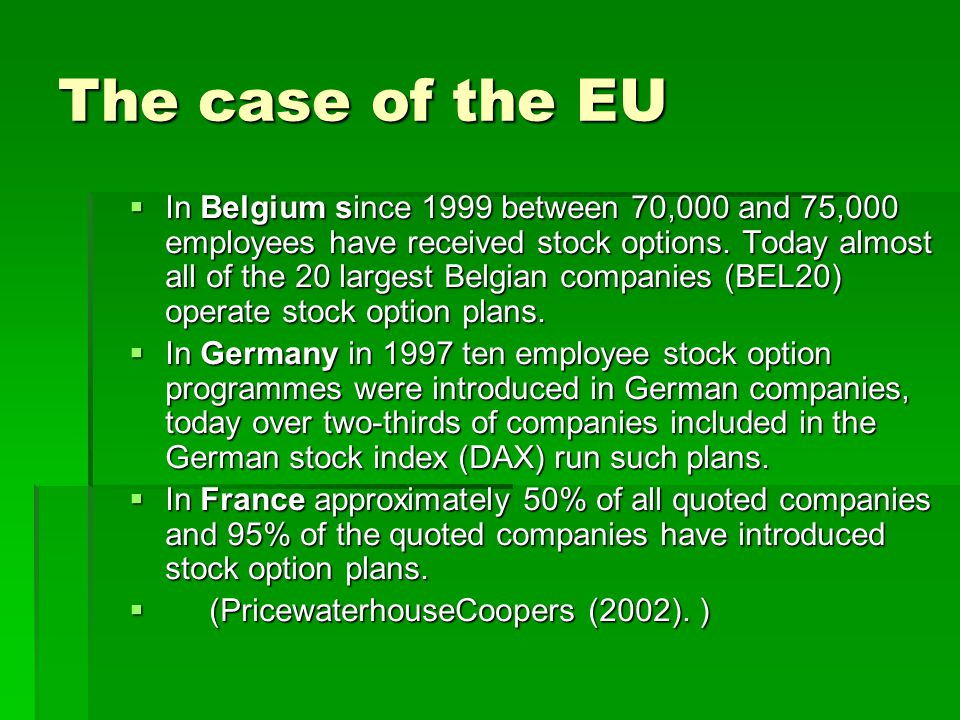 Stock options german