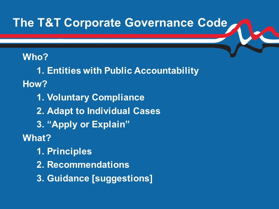 The T&T Corporate Governance Code