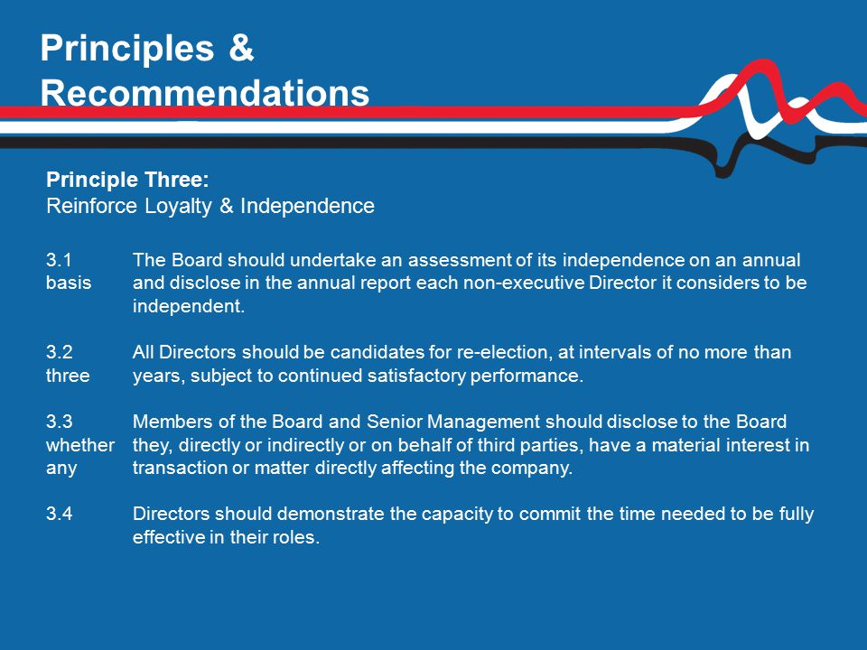 Principles & Recommendations