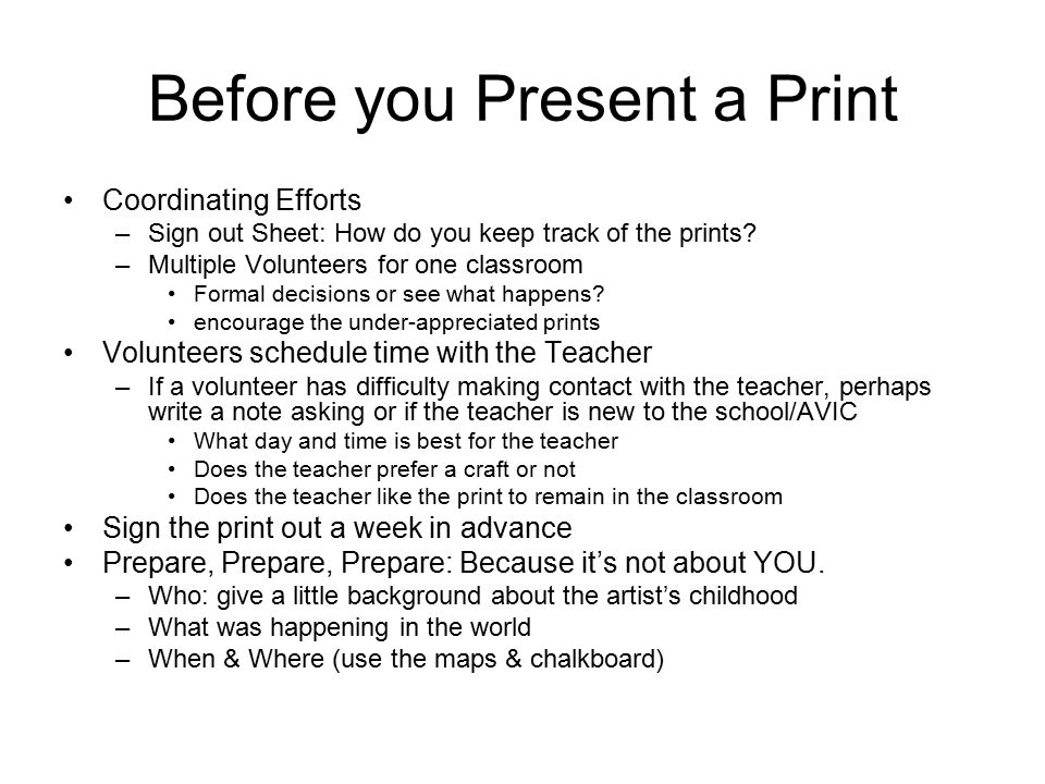 Art Volunteers In The Classroom - Ppt Download