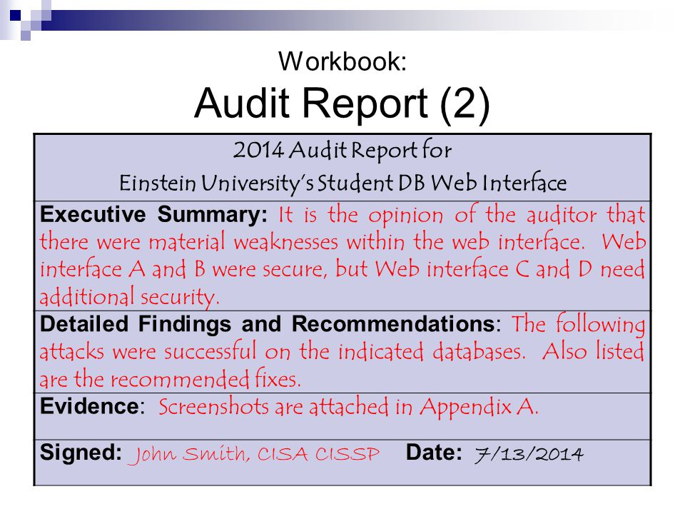 Awesome Sample Of Internal Audit Summary Report Form With