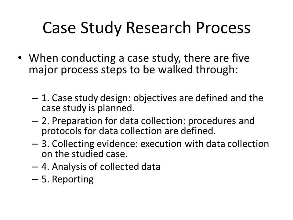 Case Study Components