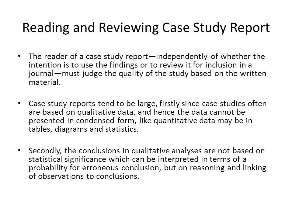 qualitative case study outline Each case study must outline the purpose, then depending on the type of case study and the actions proposed by the researcher, the researcher could determine the possible products of the study.