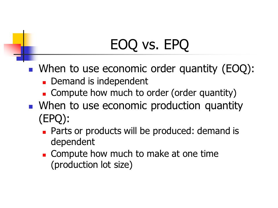 Case study eoq model - The Supply Chain Management Processes