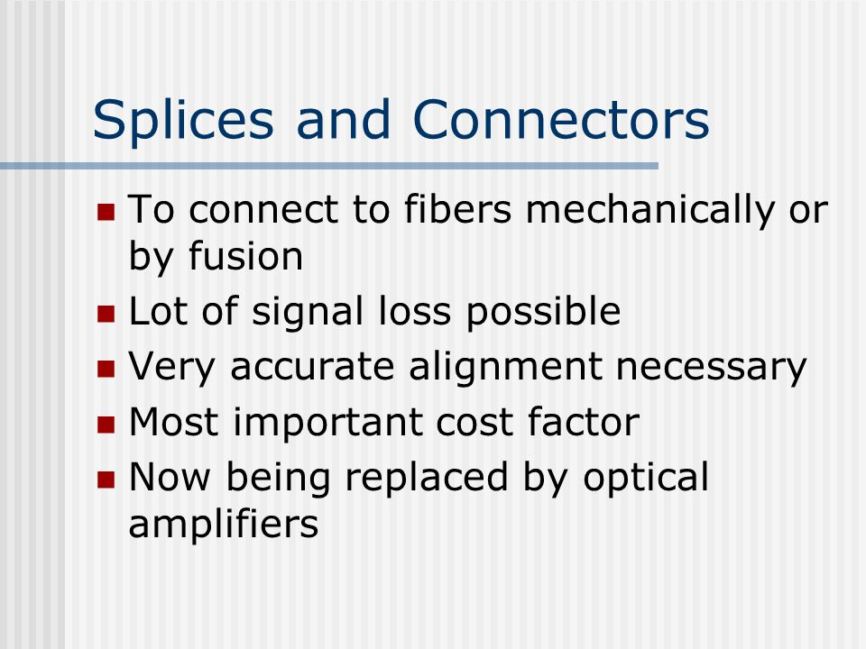 Splices and Connectors