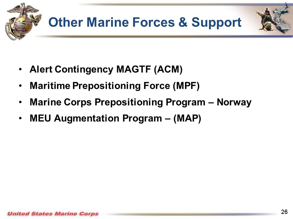 Other Marine Forces Support