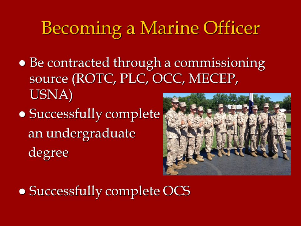 Introduction to the united states marine corps ppt video online download - Becoming a marine officer ...