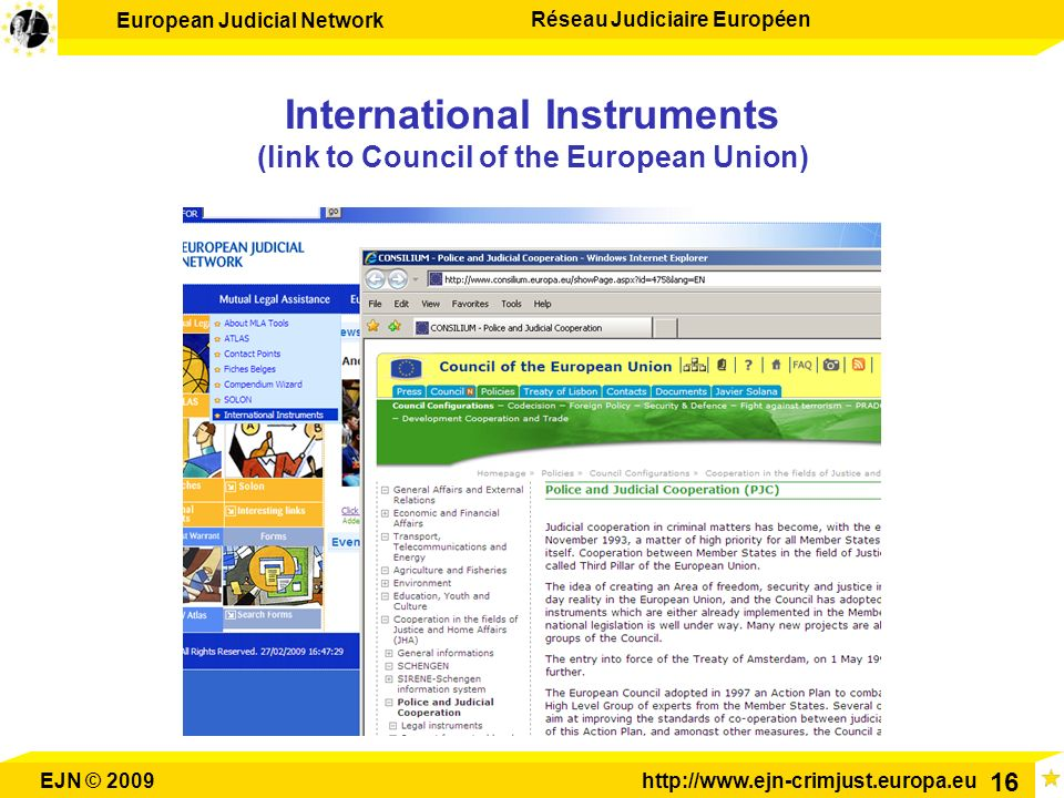 International Instruments (link to Council of the European Union)