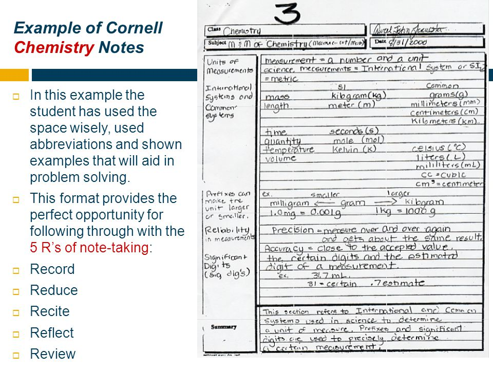 Why Cornell Notes In Science And At Kofa  Ppt Video Online Download