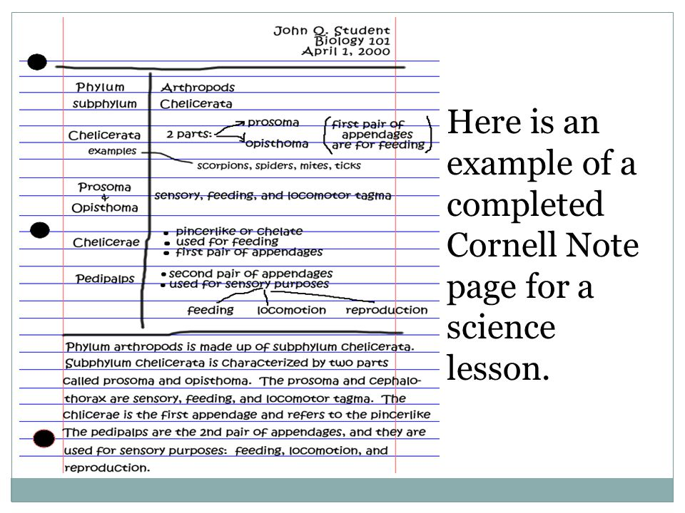Bill Querry Edu 742 Help Students Take Organized Notes Ppt Video