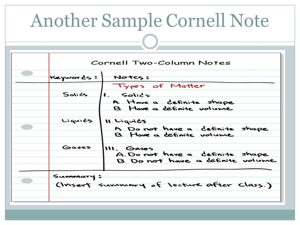 Bill Querry Edu  Help Students Take Organized Notes  Ppt Video