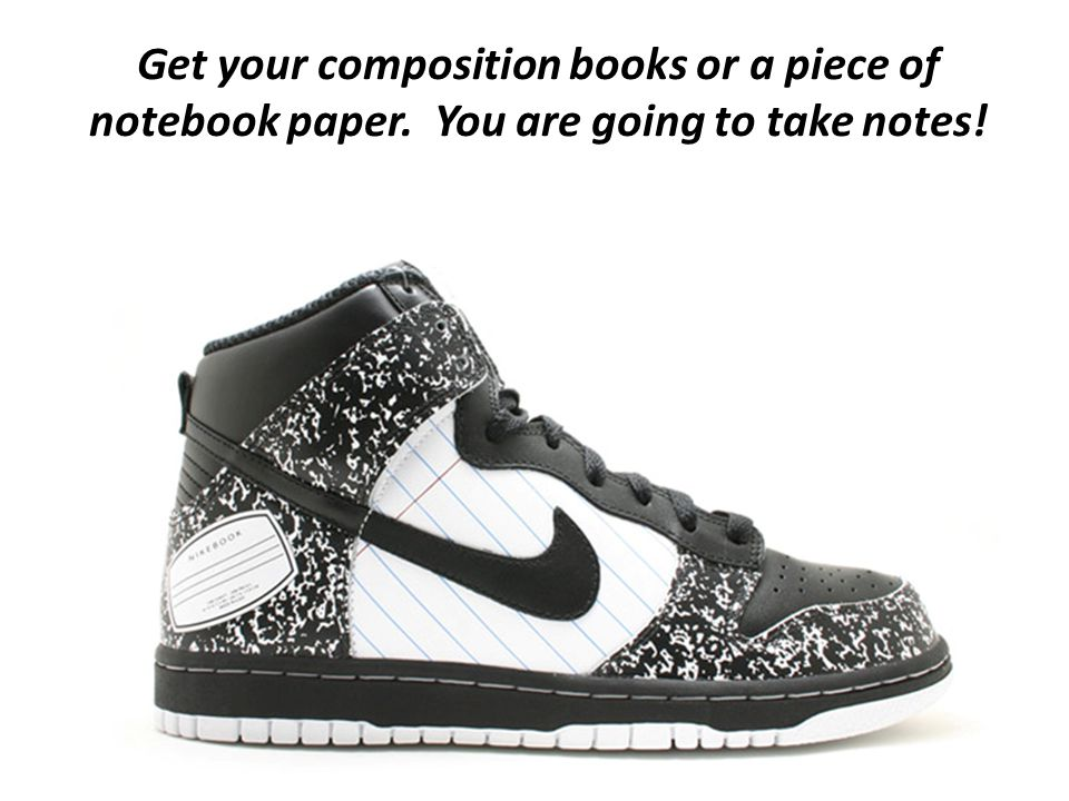 Get your composition books or a piece of notebook paper