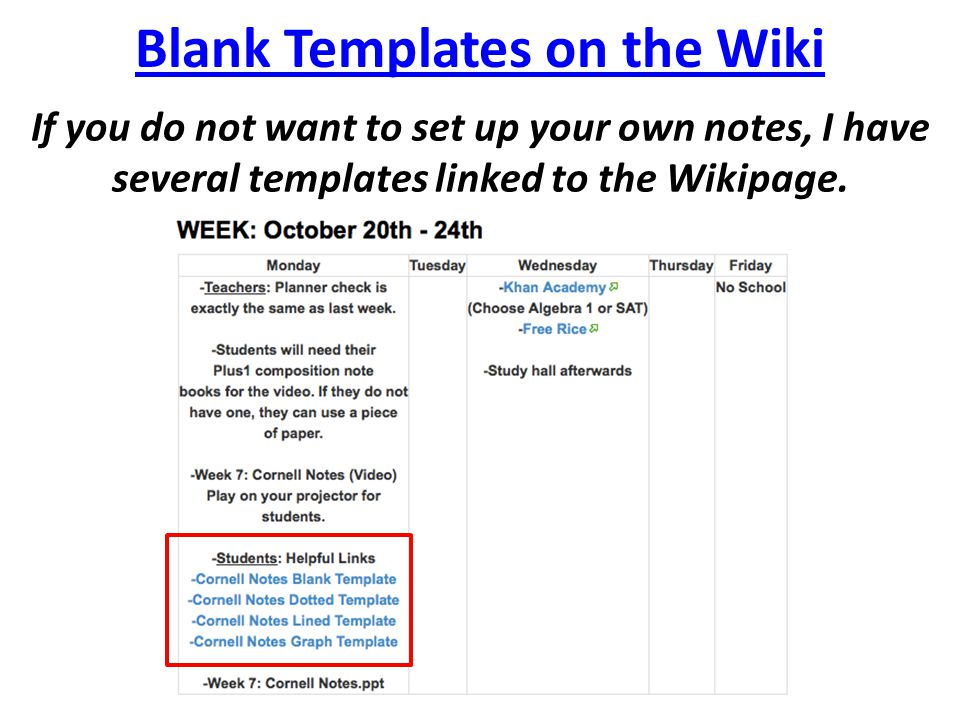Blank Templates on the Wiki