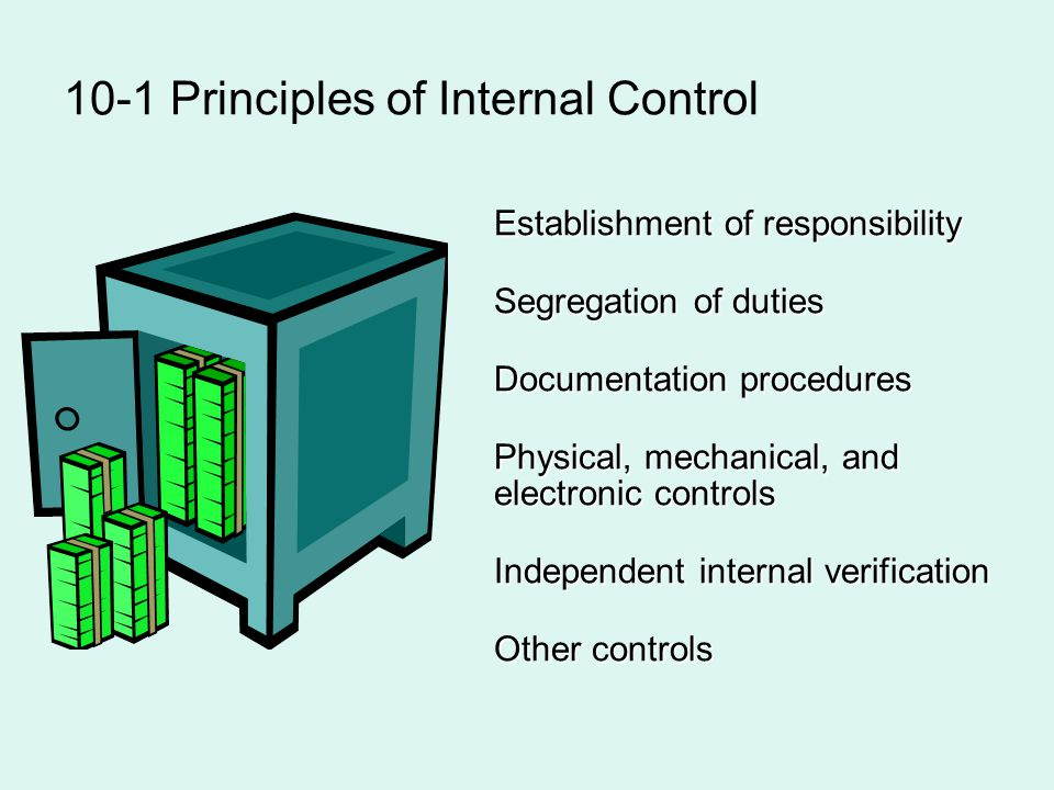 10-1 Principles of Internal Control