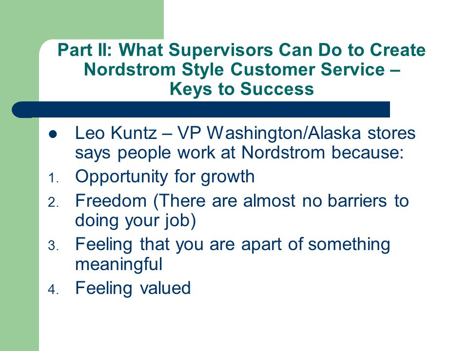 nordstrom how to succeed by selling John nordstrom facts: nordstrom stores are known for outstanding customer  service  of back-breaking jobs gave nordstrom the drive he needed to succeed  and  when another miner challenged his claim, nordstrom sold his share to the .