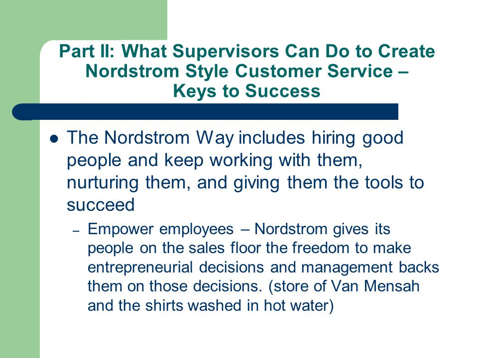 Nordstrom customer relationship management
