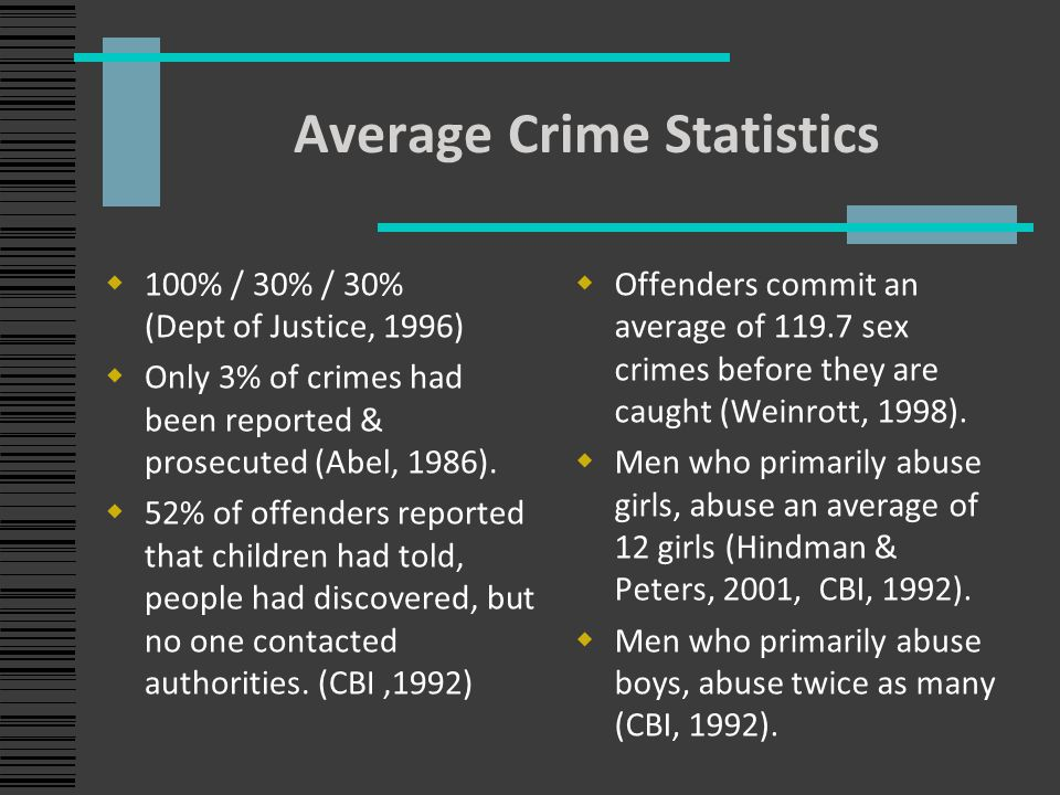 sex crime repeat offenders statistics