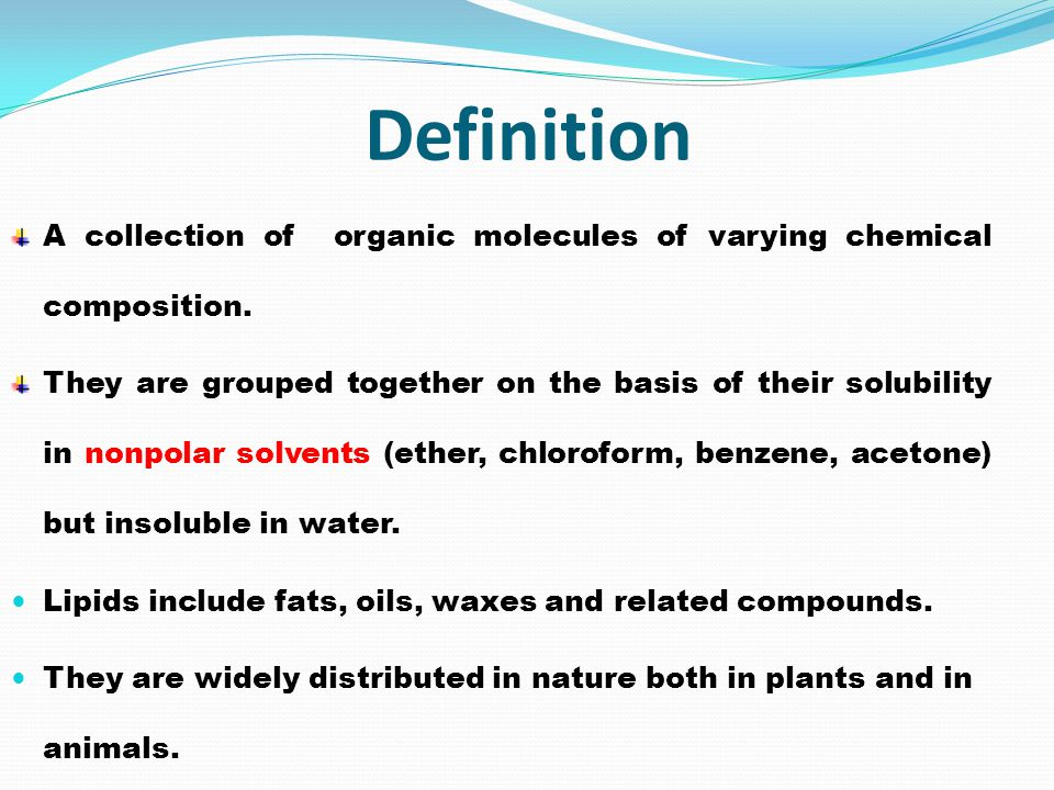Definition A collection of organic molecules of varying chemical composition.