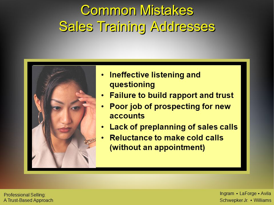 Continual Development of the Sales Force: Sales Training ...