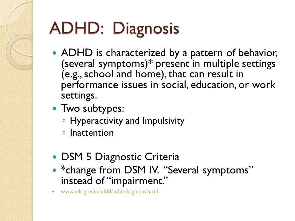 the over diagnosis of adhd Children diagnosed with adhd are perceived to be 'imperfect' by virtue  no one  country had a monopoly over the disorder7 underlying this.