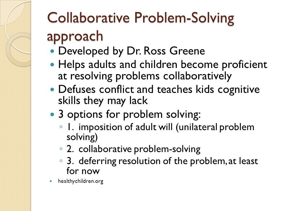 Collaborative Problem Solving Responsive Classroom ~ Adhd stephanie stockburger md faap assistant professor