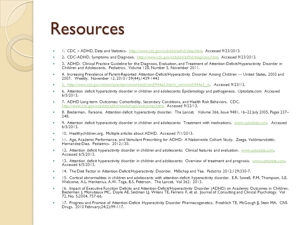 Adhd stephanie stockburger md faap assistant professor ppt cdc adhd data and statistics httpwww sciox Choice Image