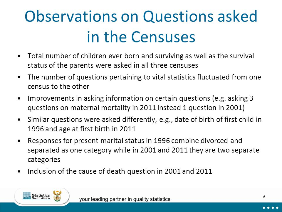 Observations on Questions asked in the Censuses
