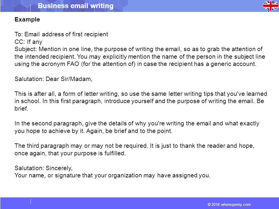 How to Write a Business - ppt video online download