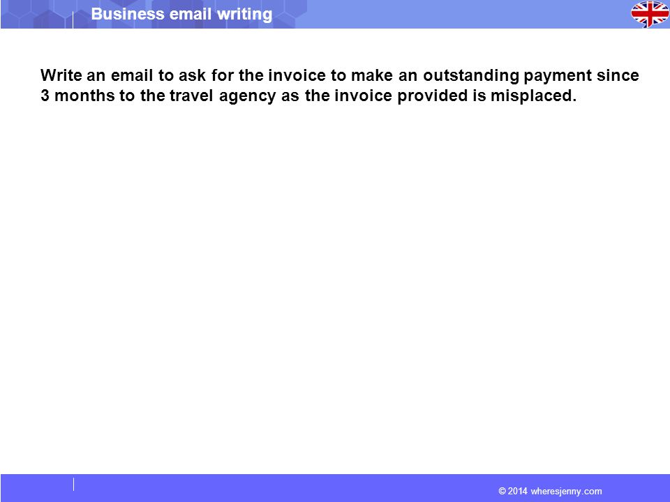 how to write an invoice email