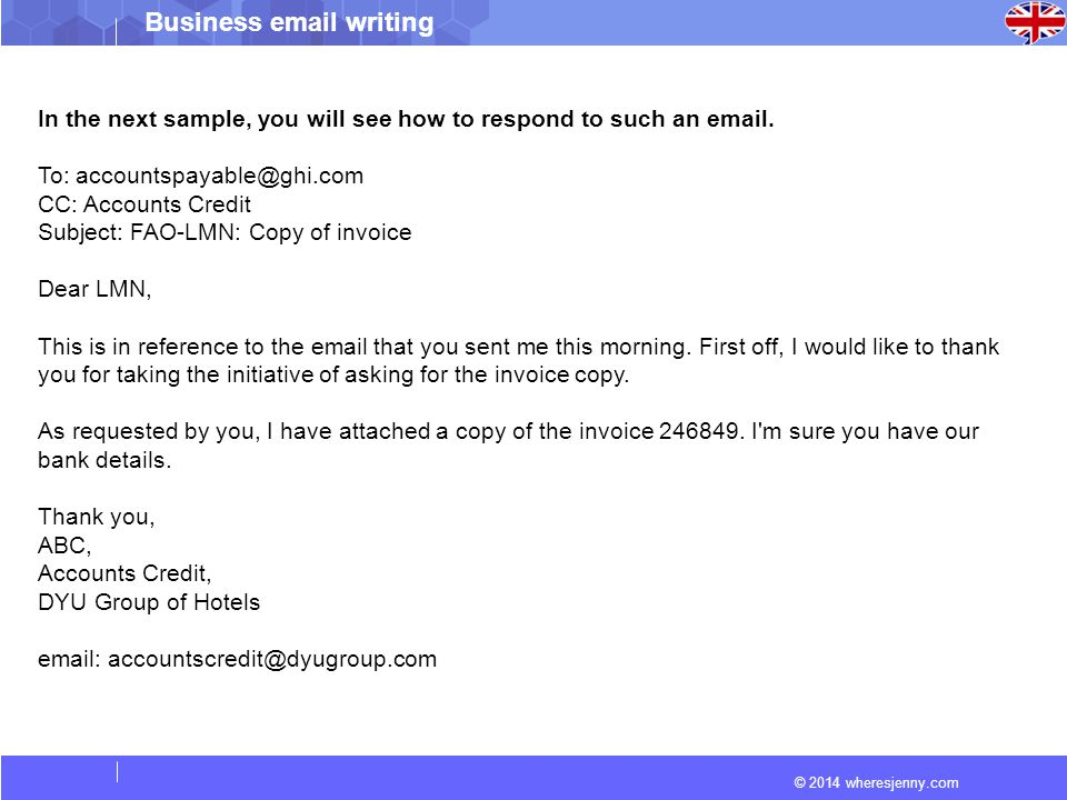 How To Write A Business Ppt Video Online Download - How to write an email with invoice attached